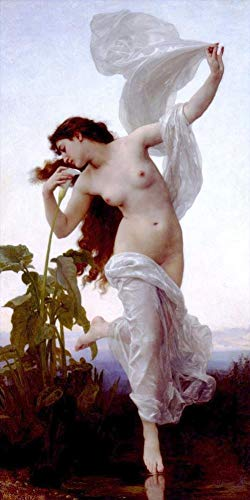 ($50-$2000 Handmade Oil Painting by College Teachers - Laurore William Adolphe Bouguereau Nude Classic NCC1 Canvas Art for Home Wall Decoration -Size 07)