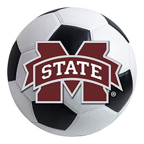 FANMATS NCAA Mississippi State University Bulldogs Nylon Face Soccer Ball -