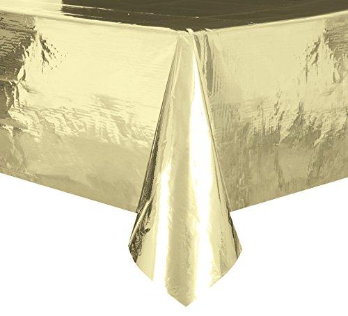 Foil Gold Plastic Tablecloth  108 X 54