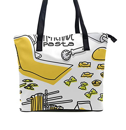 Beach Tote Bags Travel Totes Bag Toy Tote Shopping Tote Shoulder Hand Bag For Gym Beach - Homemade Pasta]()