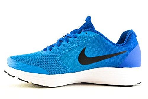 Nike NIKE REVOLUTION 3 (GS) - Zapatillas deportivas, Niños, Azul - (Blue Orbit/Black-Blue Jay-White)