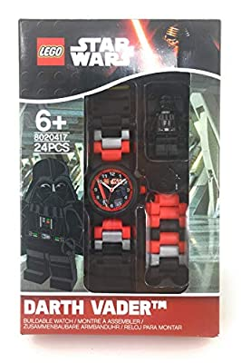 LEGO Watches and Clocks Boy's 'Star Wars' Quartz Plastic Watch, Color:red (Model: 8020418)