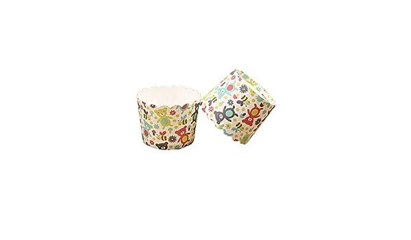 Chinashow 150 Unidades hitzebeständige Cupcake Wrapper Schöne Osos Imprimir Moldes para Cupcakes: Amazon.es: Hogar