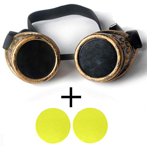 Spiked Cyber Goggles Steampunk Welding Goth Cosplay Vintage Goggles Rustic Men Women Novelty Individualizing Goggles