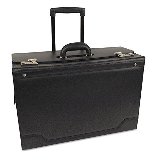 MOT STEBCO 341626BLK Rolling Catalog Case Leather-Trimmed Tufide 21 3/4 x 15 1/2 x 9 3/4 Black ()