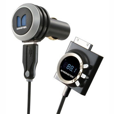 Monster Cable Icarplay Wireless Fm Transmitter - MONSTER A IP FM-CH 250 ICARPLAY(TM) WIRELESS 250 FM TRANSMITTER FOR IPOD(R) & IPHONE(TM)