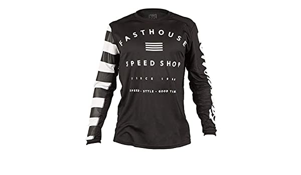 Amazon.com  Fasthouse Fastline Speed Shop MTB Jersey Medium Black  Clothing 2279e9431