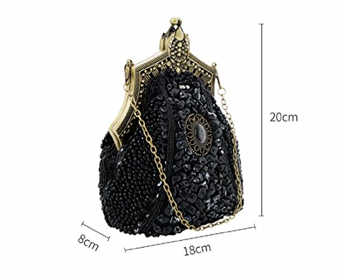 Elegant Of Dinner Dress Bag Xjtnlb Heavy Dinner Banquet Embroidery Gray Dress Ghouls Banquet Industry Pearl Embroidered IHFUxSq
