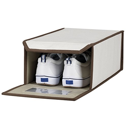 Vision Windowed Shoe Box - Set of 4 by Household Essentials
