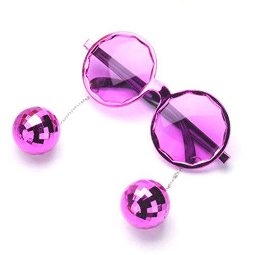 Gafas Good Atrezzo Cadena Night Bola del para la Gafas decoración sol Púrpura de de partido disfraces Accesorios pzprw