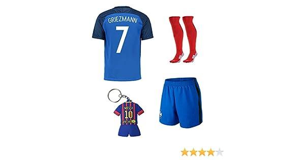 5fb048ab9480 ... czech soccer kids 2015 2016 football soccer france home jersey  griezmann 7 kids team suit shirt