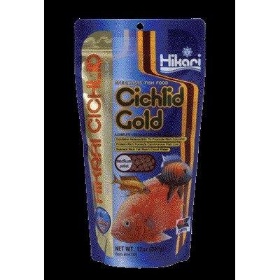 Cichlids Gold Sinking Pellet Fish Food [Set of 3] Size: Medium (12 Ounces)