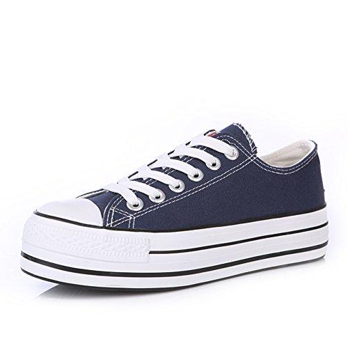 Lienzo clásico zapatos de las mujeres/Zapatos del ocio Coreano/Muffin grueso sólido con el estudiante al final de la tendencia de los zapatos ocasionales B
