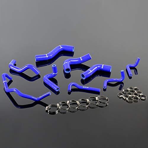 Blue For 1989-93 MAZDA ROADSTAR MIATA MX-5 NA6CE B6ZE 1.6L Silicone Coolant Hose