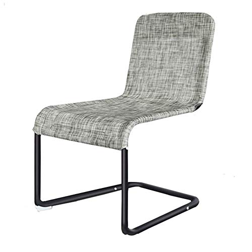 (Kylinyyz Kitchen-Dining Chairs, Assemble Grey Ventilate Fabric Cushion, Washable Back and Metal Legs Living Room Side-Chairs)