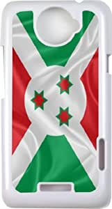 Rikki KnightTM Burundi Flag - White Cell HTC ONE X Case Cover for HTC ONE X