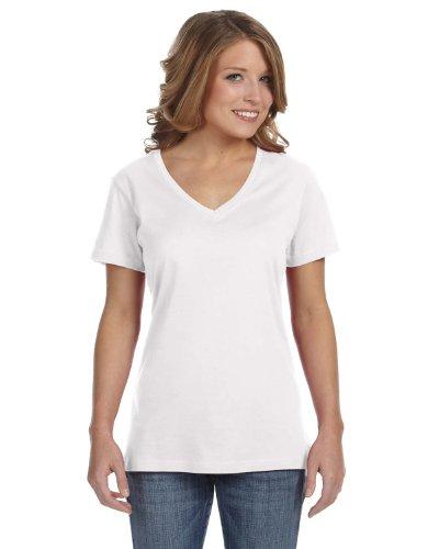 Avil- Camiseta fina de manga corta en forma de V Blanco - blanco