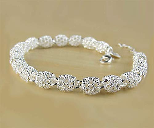 Aimys Women's 925 Sterling Silver Adjustable Hollow Chain Bracelet Charm Wrist Bangle Clasp Love Transfer Beads Gift