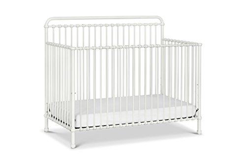 Million Dollar Baby Classic Winston 4-in-1 Convertible Iron Crib,  Washed White
