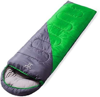 Saco de Dormir, Que empalma con Capucha del Sobre Sacos de Dormir, Camping al Aire Libre para Adultos cálido Saco de Dormir Impermeable, ...