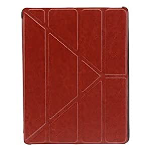 Magnetic Flap Closure Design Auto Sleep Faux Leather Case for iPad 2/3/4 (Brown) by ruishername