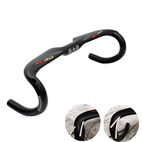 EC90 Full Carbon Fiber Road Bicycle Handlebar Road Bike Handle Bar 31.8400/420/440 Drop Bars Cycling Parts (420MM)