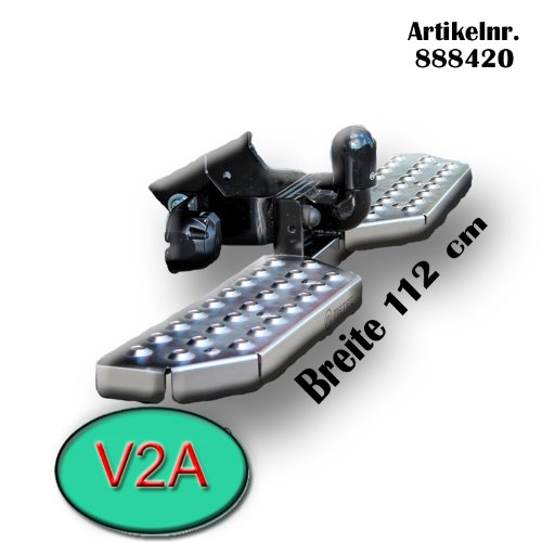 Metec 888420_11 Trittbretter fü r Anhä ngerkupplung Auftritt Einstiegshilfe AHK