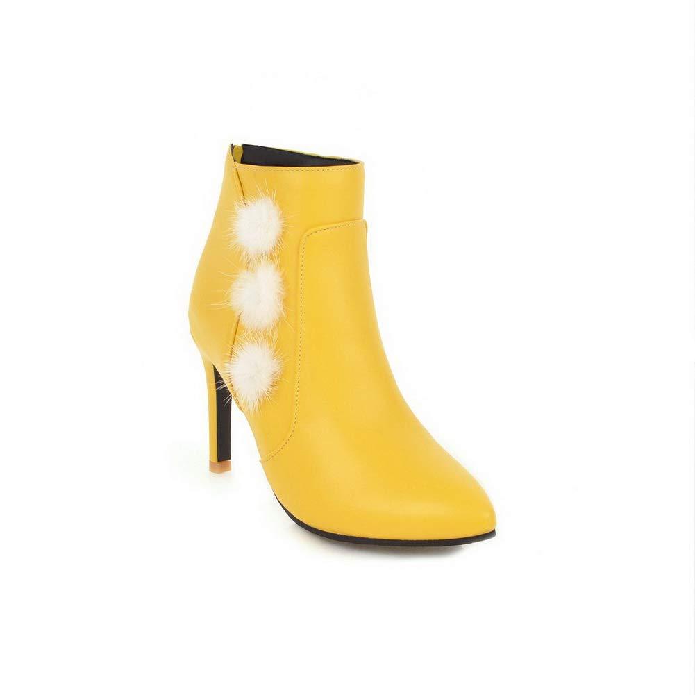 Aimint EZR00205, Damen Durchgängies Plateau Sandalen mit Keilabsatz, Gelb - - - gelb - Größe  EU 41 6a0c64