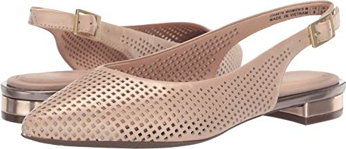(Rockport - Womens Adelyn Perf Sling Flat, Size: 8.5 M US, Color: Neutral Beige)