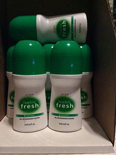 Avon Feelin Fresh Original Roll On Antipirspirant Deodorant 2.6 fl.oz. Lot 6 pcs.