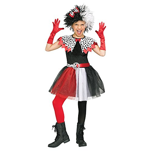 Fun World Dalmatian Diva Child Costume, X-Large, Multicolor