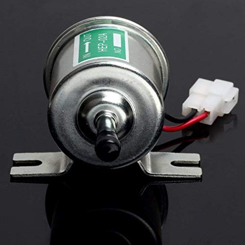 Jelinda Plata Gas Combustible Diesel Pump Nueva universal 12V 1.2A Heavy Duty eléctrico metal Intank Sólidos Bombas de...