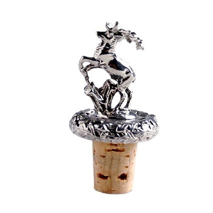 momentissimo Botella cierre Ornamentales corcho ciervo – Corcho con diseño de ciervo (peltre