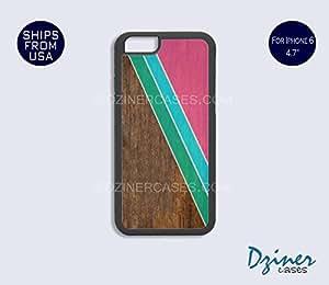iPhone 6 Case - 4.7 inch model - Geometric Pattern on Wood Design
