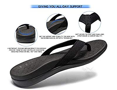 LLSOARSS Plantar Fasciitis Feet Sandal with Arch Support - Best Orthotic flip Flops for Flat Feet?Heel Pain- for Women