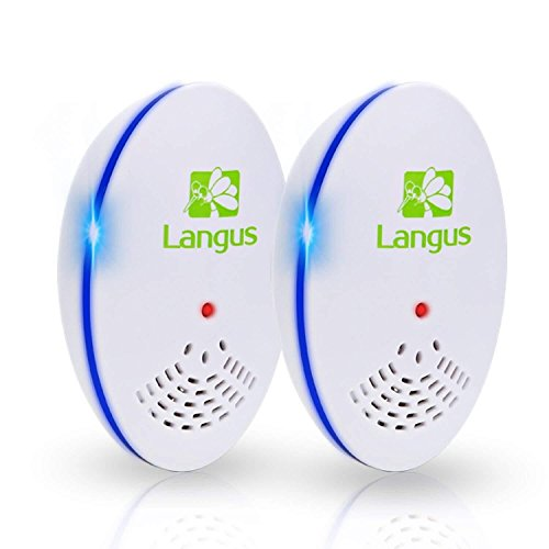 Langus Ultrasonic Pest Repeller (2-Pack) -Electronic & Ultrasound, Indoor Plug-in Repellent,Easiest Way to Reject Rodent,Bed Bug,Mosquito,Fly Cockroach,Spider,Rat,Home Animal No Kill Plug in