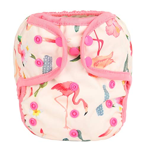 (Sigzagor Baby Cloth Diaper Cover Nappy One Size Reusable For Girls (Flamingo Cactus))