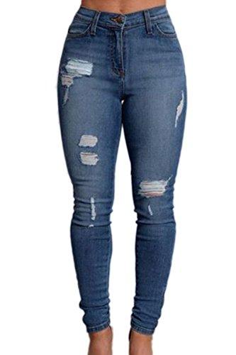 YACUN Jeans Jeans Skinny Taille Les blue Haute q0U8OT