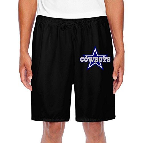 Rebecca Men's Short Training Pants Dallas Cowboy Black Size L - Mens Dallas Cowboy Pajama Pants