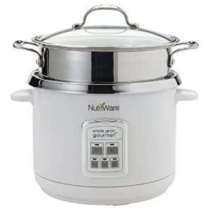 Aroma Housewares NRC-1000 Nutriware Whole Grain Gourmet Digital 18-Cup (Cooked) Rice Cooker, Food Steamer and Pasta Cooker