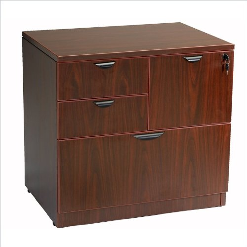 - Boss Office Products N114-M Combo Lateral File in Mahogany