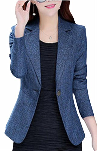 Women's Slim Business Blazer Blue - 6