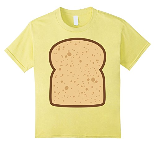 Bacon And Egg Costume Diy (Kids Sliced Bread Toast Matching Shirts DIY Halloween Costume 6 Lemon)