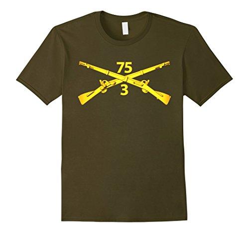 Mens 3rd Bn - 75th Infantry Regiment (Ranger) Tshirt XL O...