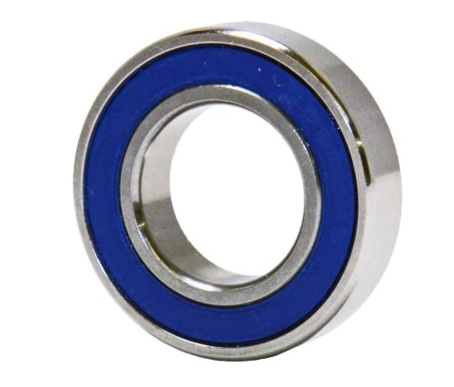 61902-2RS Hybrid Ceramic Ball Bearing, 15x28x7 mm, Stainless, Si3N4, ABEC-3, Sealed