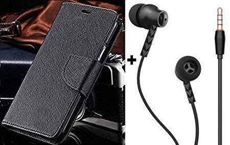 zelq folder Flip Cover with hd sound handsfree for vivo y21 / y21l  black