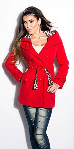 Moda para mujer con leo y cinturón Koucla by in-estilo de la moda SKU 0000ART2348 Rojo