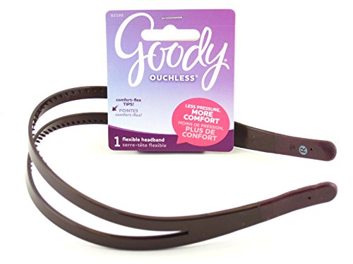 Brown Head - Goody Ouchless Flex Head Band - Brown