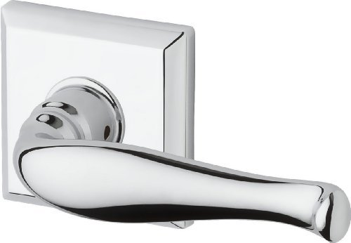 Baldwin PSDECTSR260 Reserve Passage Decorative with Traditional Square Rose, Bright Chrome Finish by Baldwin