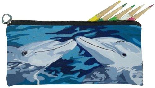 Salvador Kitti Small Pencil Bag (Dolphins - The Kiss) ()